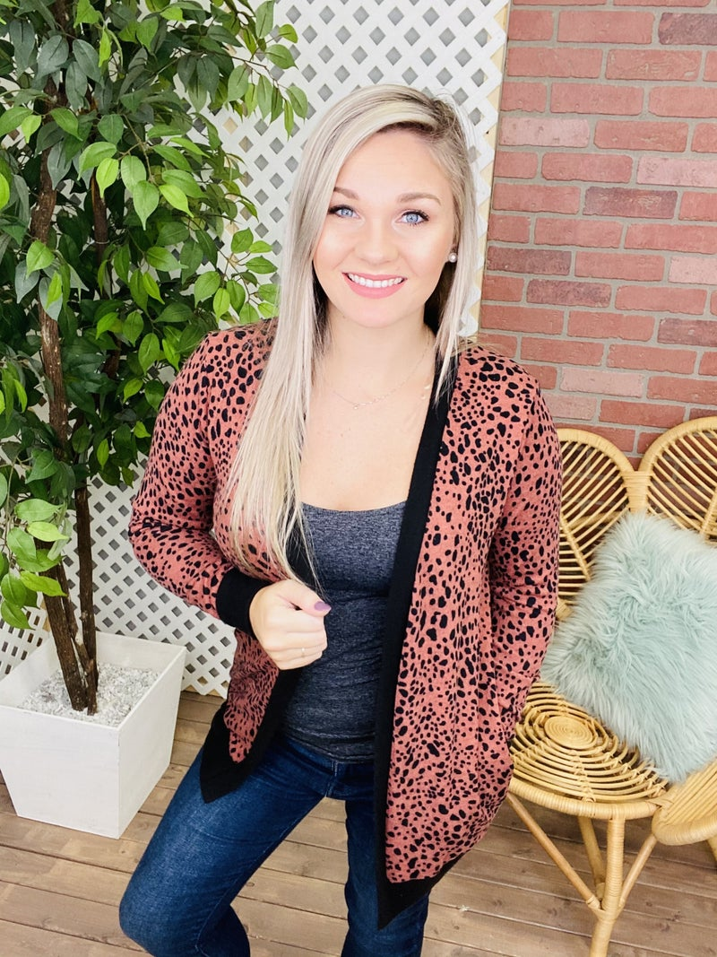 She's Been Spotted Cheetah Cardigan