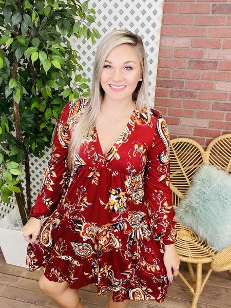 Remembrance Of Autumn Paisley Dress