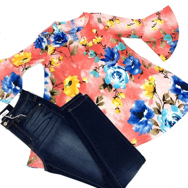 Every Sunrise Begins With You Floral Top