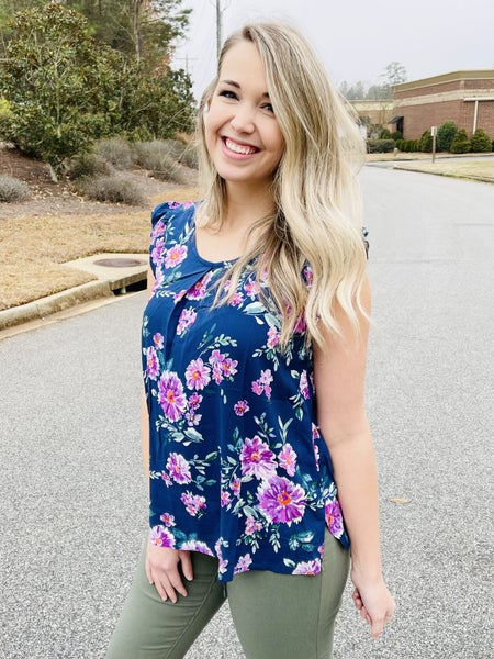 She's A Classic Floral Tank