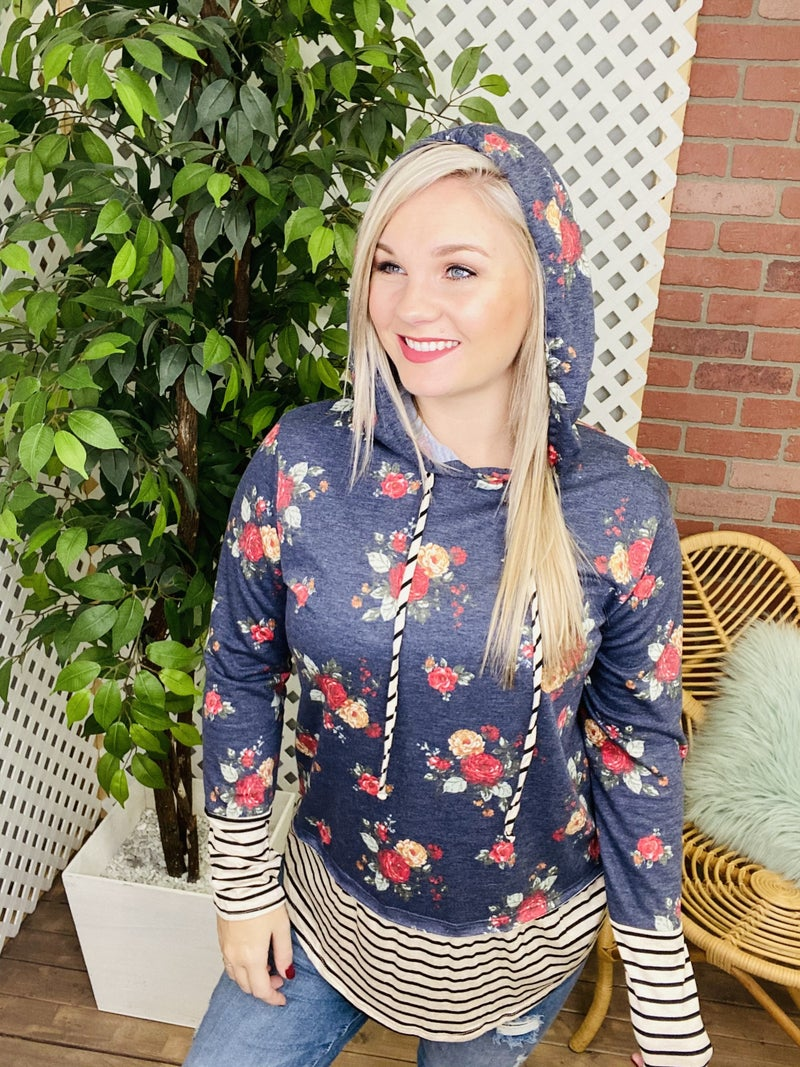 More Than A Glance Floral Hoodie