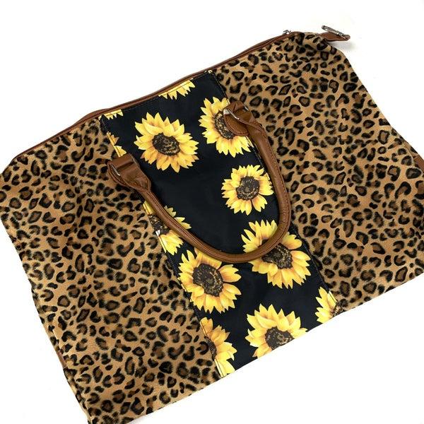Sunflower & Leopard Weekender Bag