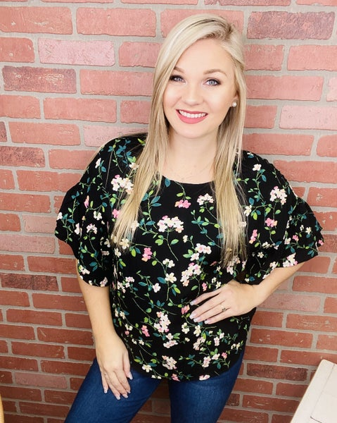 Springing Into Action Floral Top