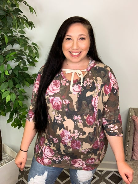 Concealed Roses Camo Top