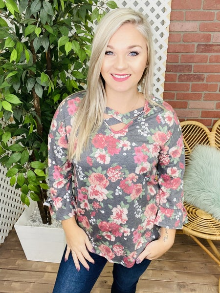 A Peaceful Thought Floral Top