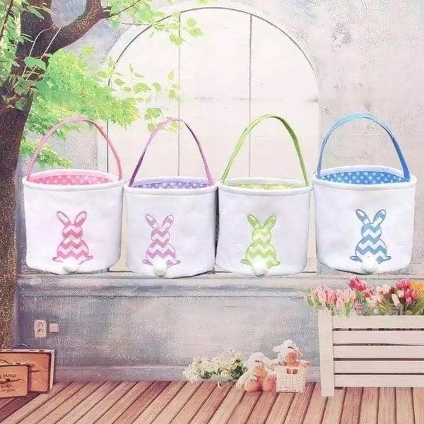 Custom Embroidered Easter Basket