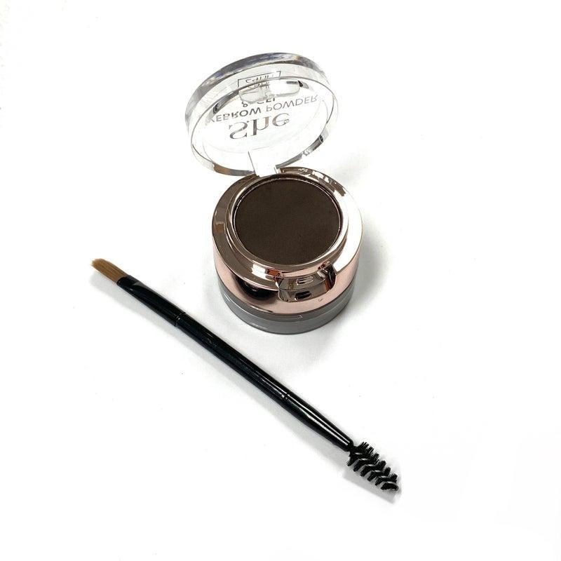 Dark Brown Eyebrow Gel & Powder