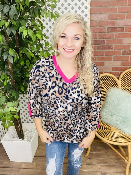 Cut To The Chase Leopard Top