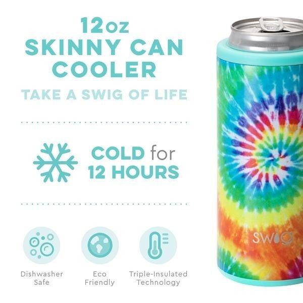 Swig Swirled Peace Skinny Cooler