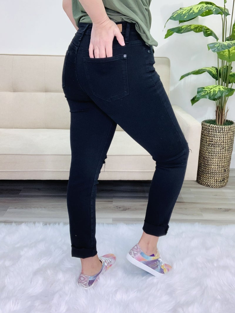 Judy Blue Perfectly Destroyed Black Jeans