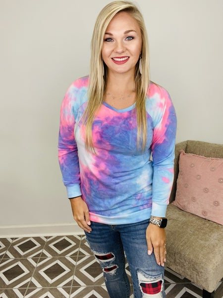 Paint The Sunset TieDye Top