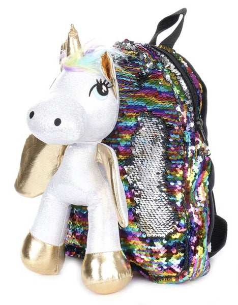 3D Unicorn Magic Sequin Backpack