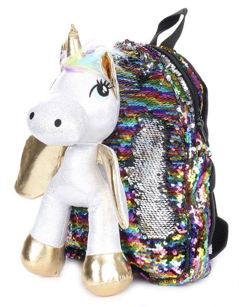 3D Unicorn Magic Sequin Backpack
