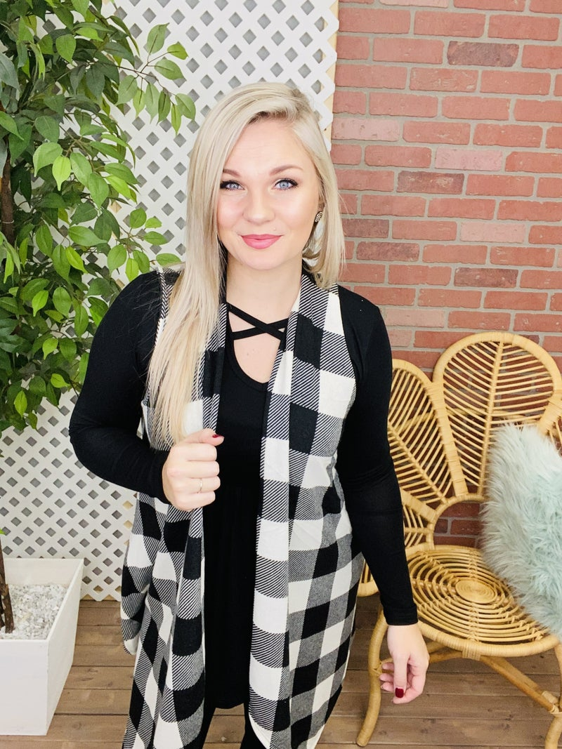 Give it Time Plaid Cardigan