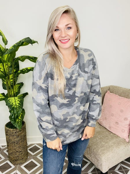 Hide and Seek Camo Top