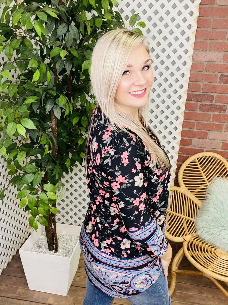 Divine Impression Floral Paisley Top