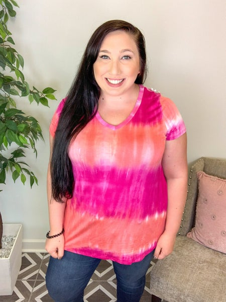Blurred Lines TieDye Top