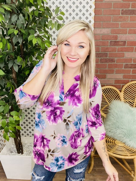 A Lifelong Impression Floral Top