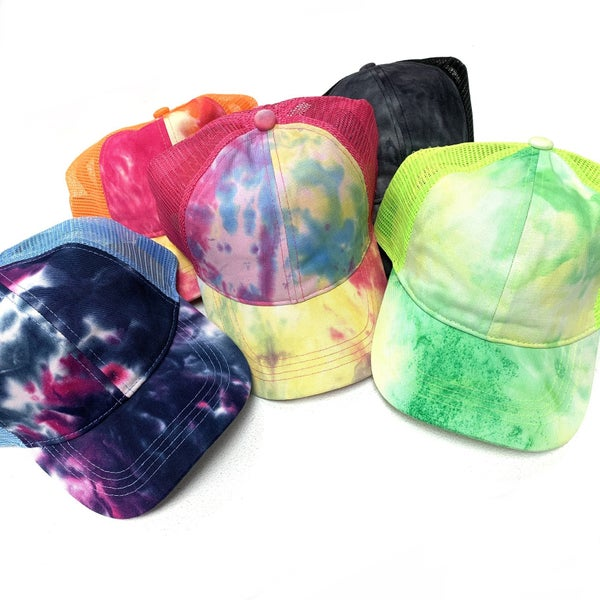 CC Pony Tail TieDye Hat (5 Colors)