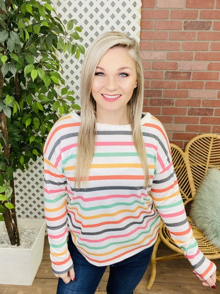 There For You Striped Top