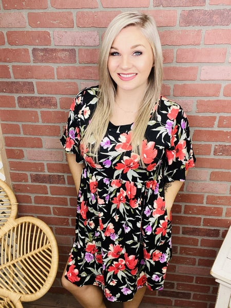 Clear To See Floral Dress