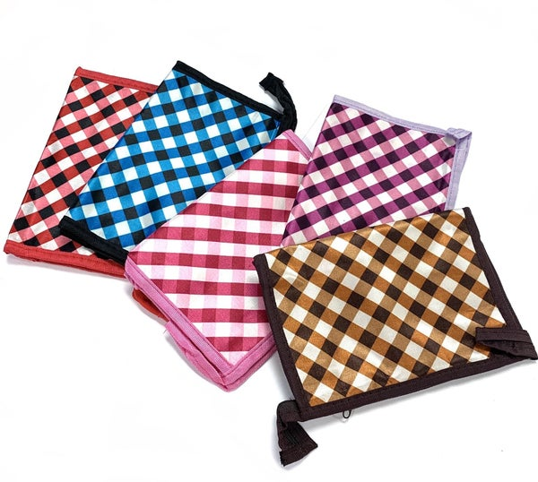 Mystery Plaid Makeup Pouch