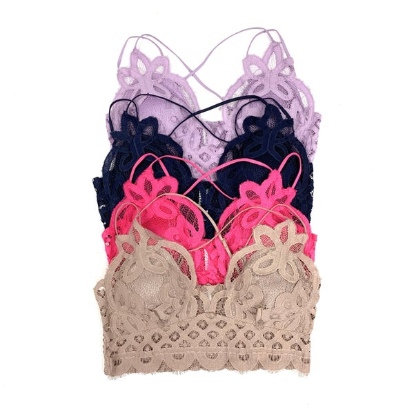 Party Don't Stop Lace Bralette