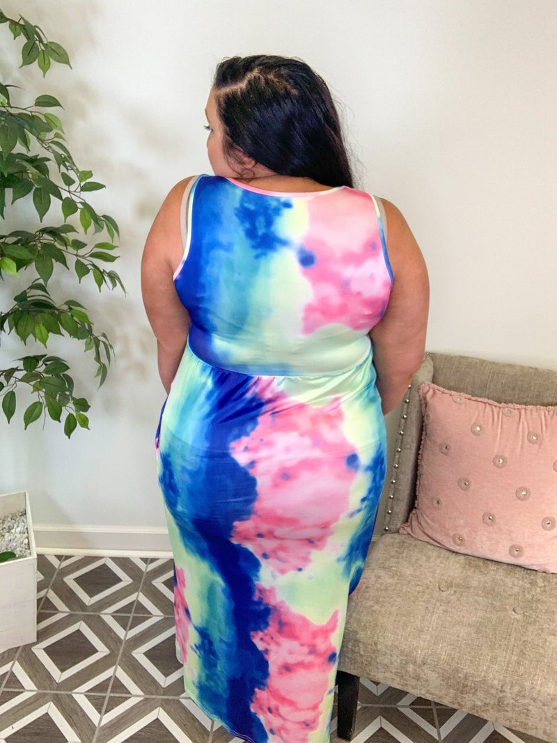 Catching Waves Summer TieDye Maxi Dress