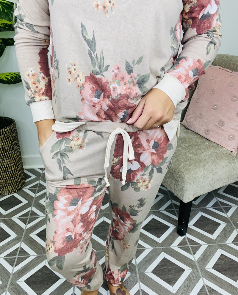 Faithful To You Floral Lounge Pants