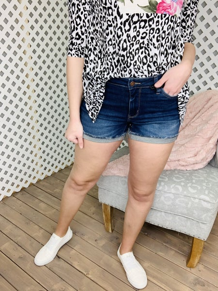 Judy Blue Locked And Loaded Cuffed Shorts