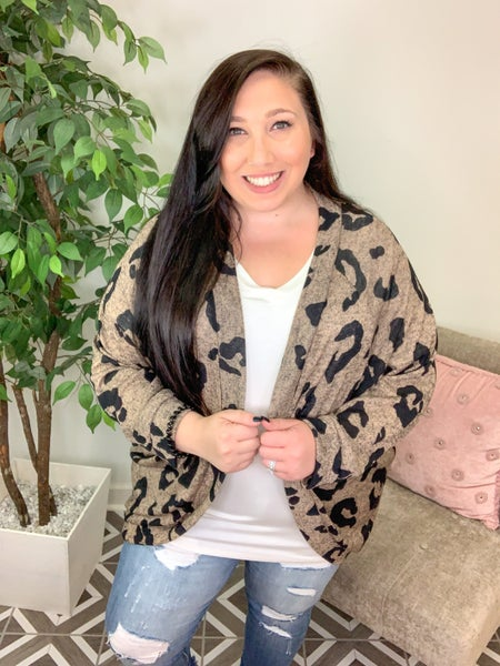 Adapt To Me Leopard Cardigan