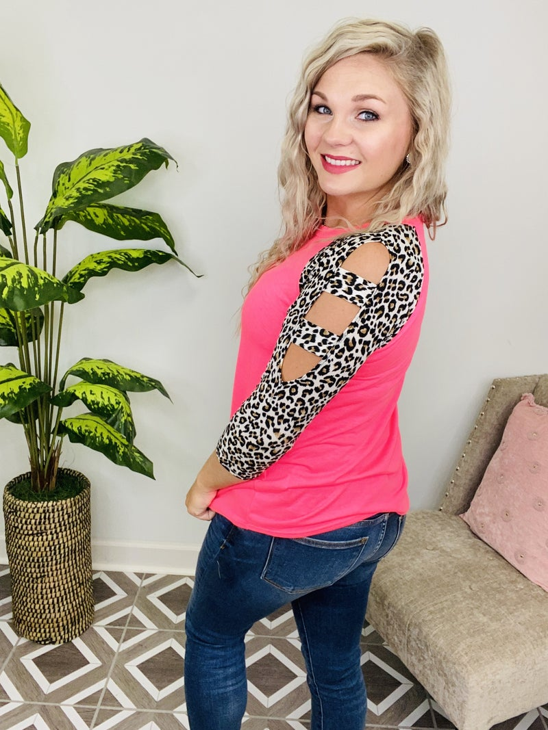 Venture Into The Wild Neon Leopard Top