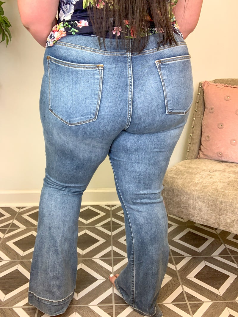 """Judy Blue """"Boot Scootin"""" Flared Jeans"""