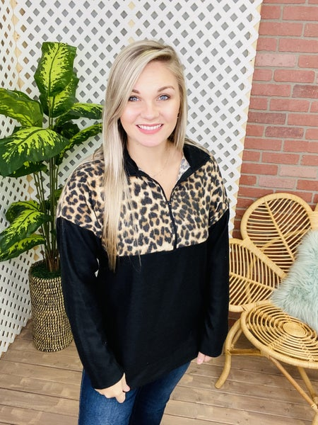 Simple Purrfection Leopard Pullover