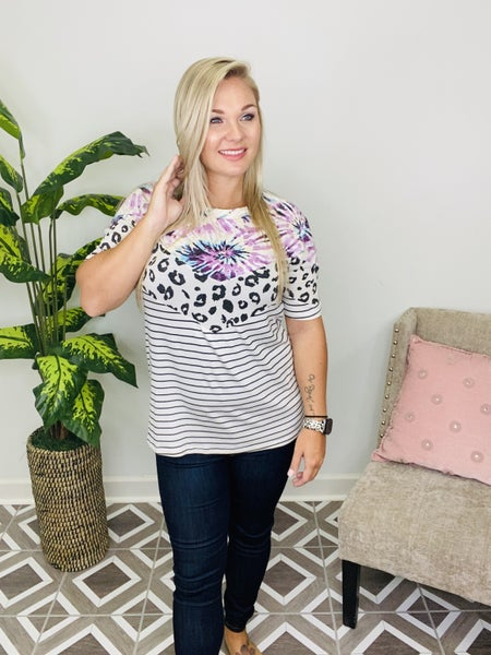 Spots That Shine Leopard Top