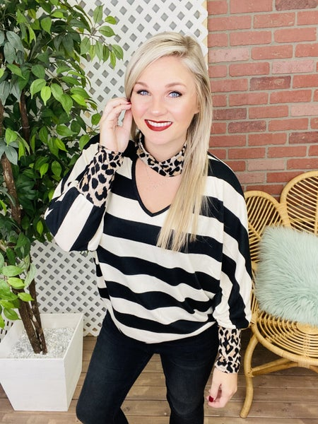 Line your Hearts Striped Top