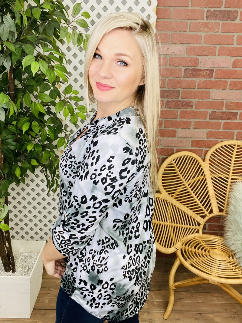 Continue To Thrive Snow Leopard Top