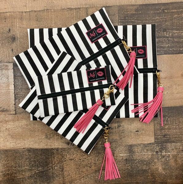Striped Makeup Junkie Bag
