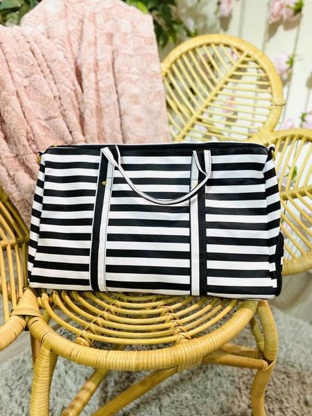 Classy Striped Duffle Bag