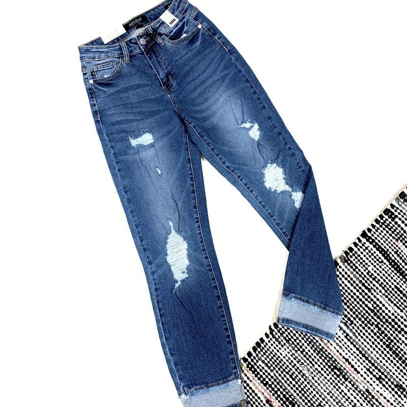 Judy Blue Insert Hem Slim Fit Jeans