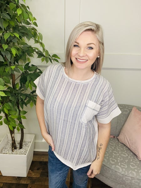 She's Above The Rest Striped Top