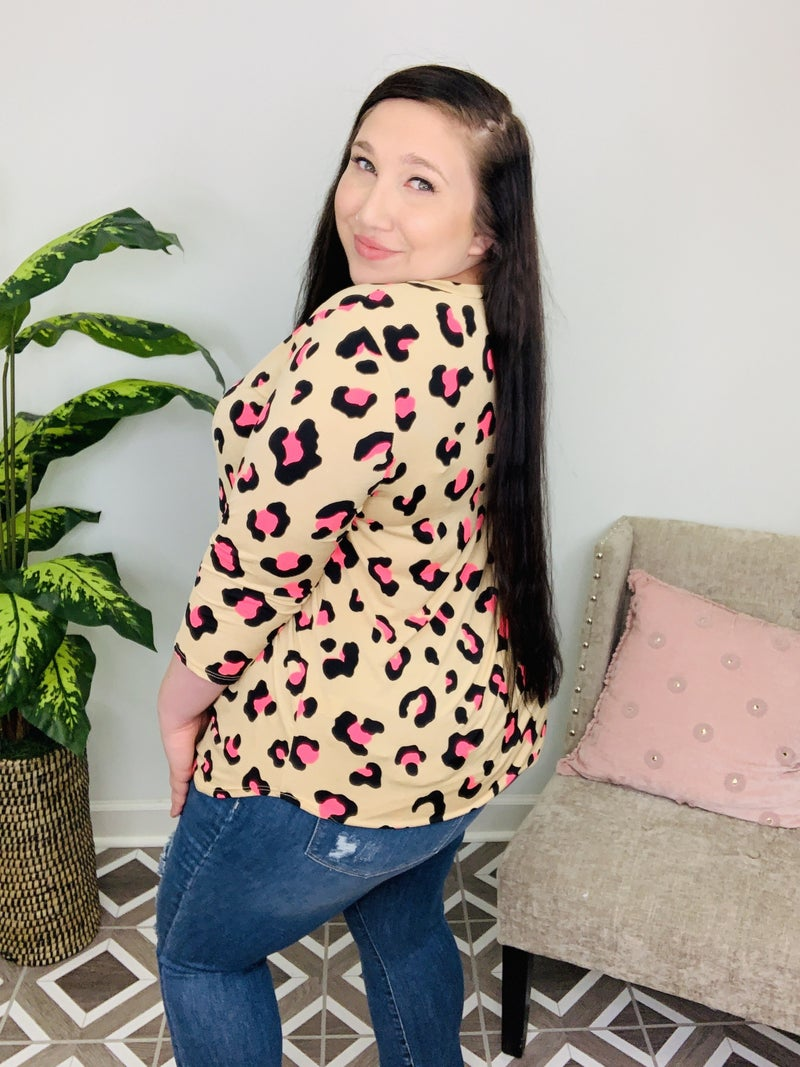 Meow's It Going Leopard Top