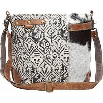 Myra Hairon & Cotton Shoulder Bag
