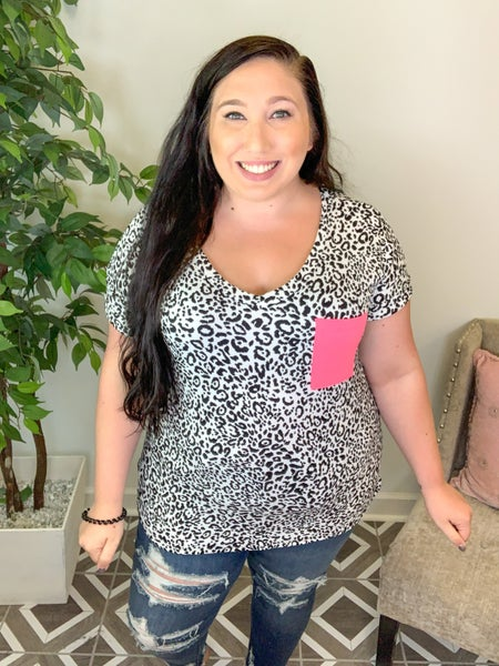 She's Purrfectly Intact Leopard Top