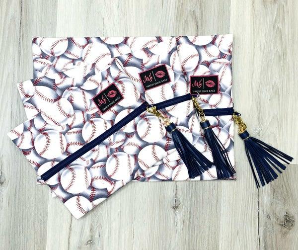 Baseball Makeup Junkie Bag