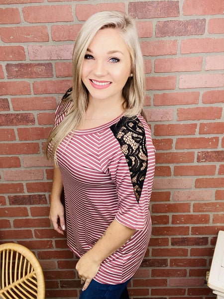 Live For A Moment Striped Top