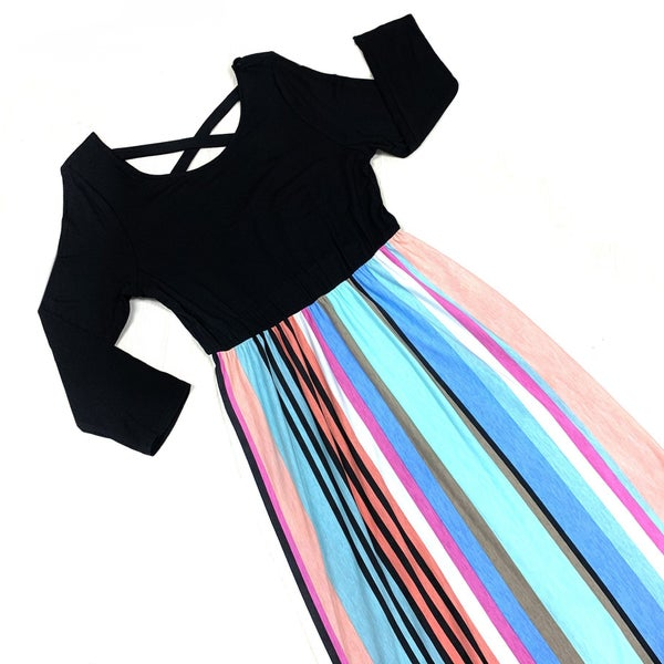 Begins With You Striped Maxi