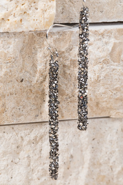 Bold Statement Glitter Bar Earrings