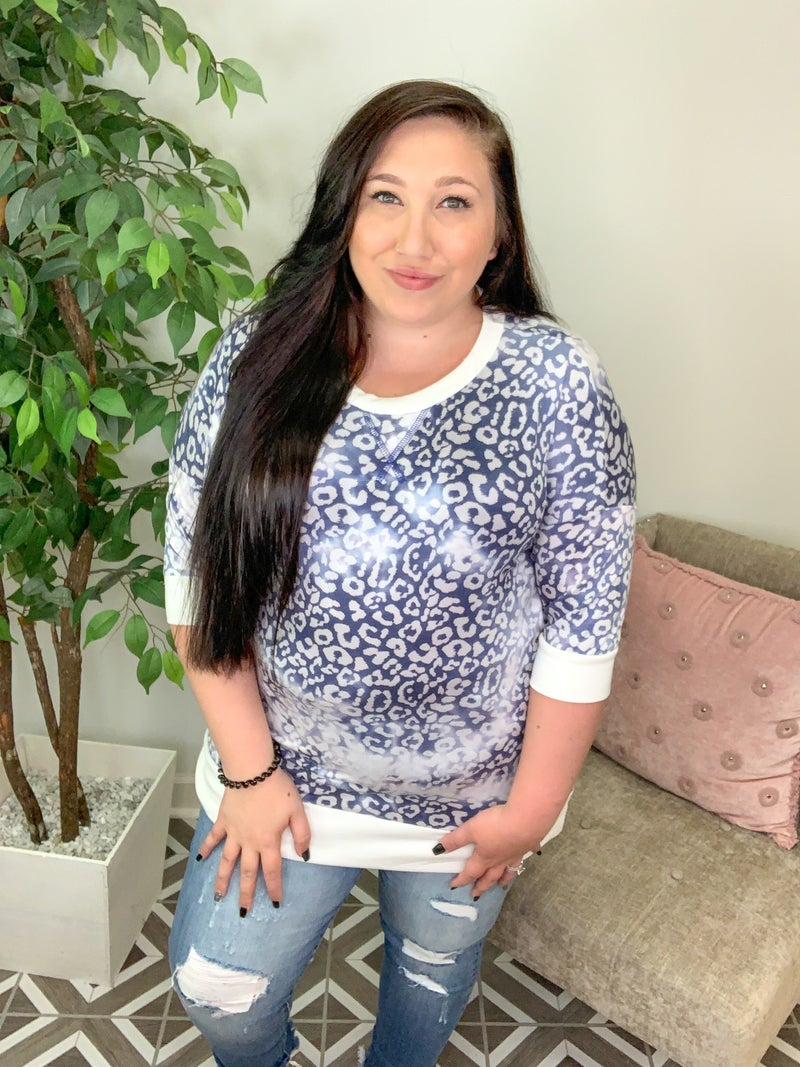Purrfectly Cozy Leopard Top