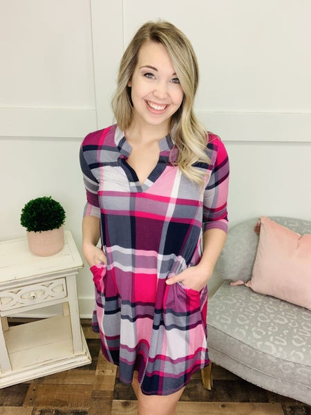 Plaid About You Gabby Dress